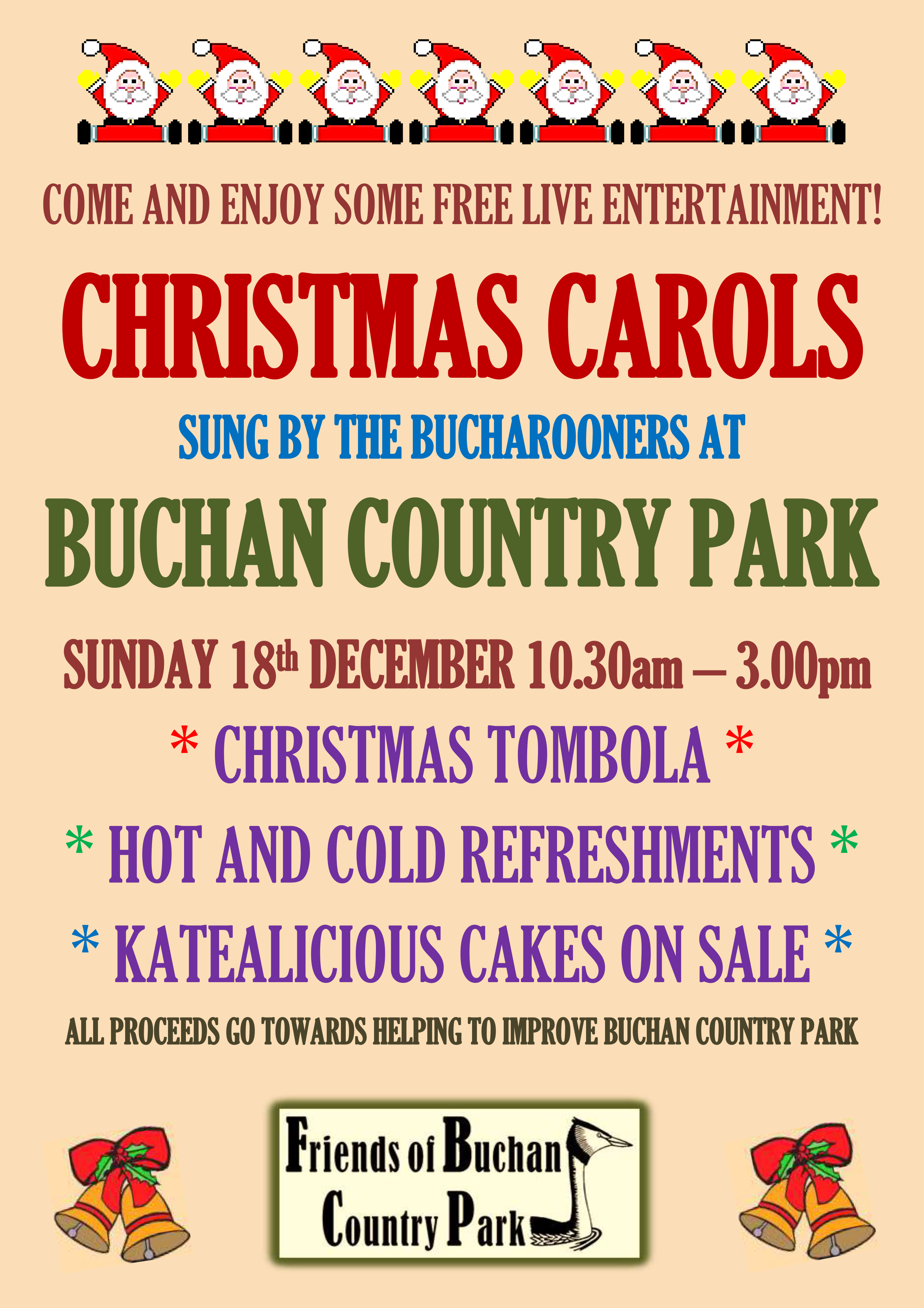 Friends Of Buchan Country Park Christmas Carols 2016 Poster