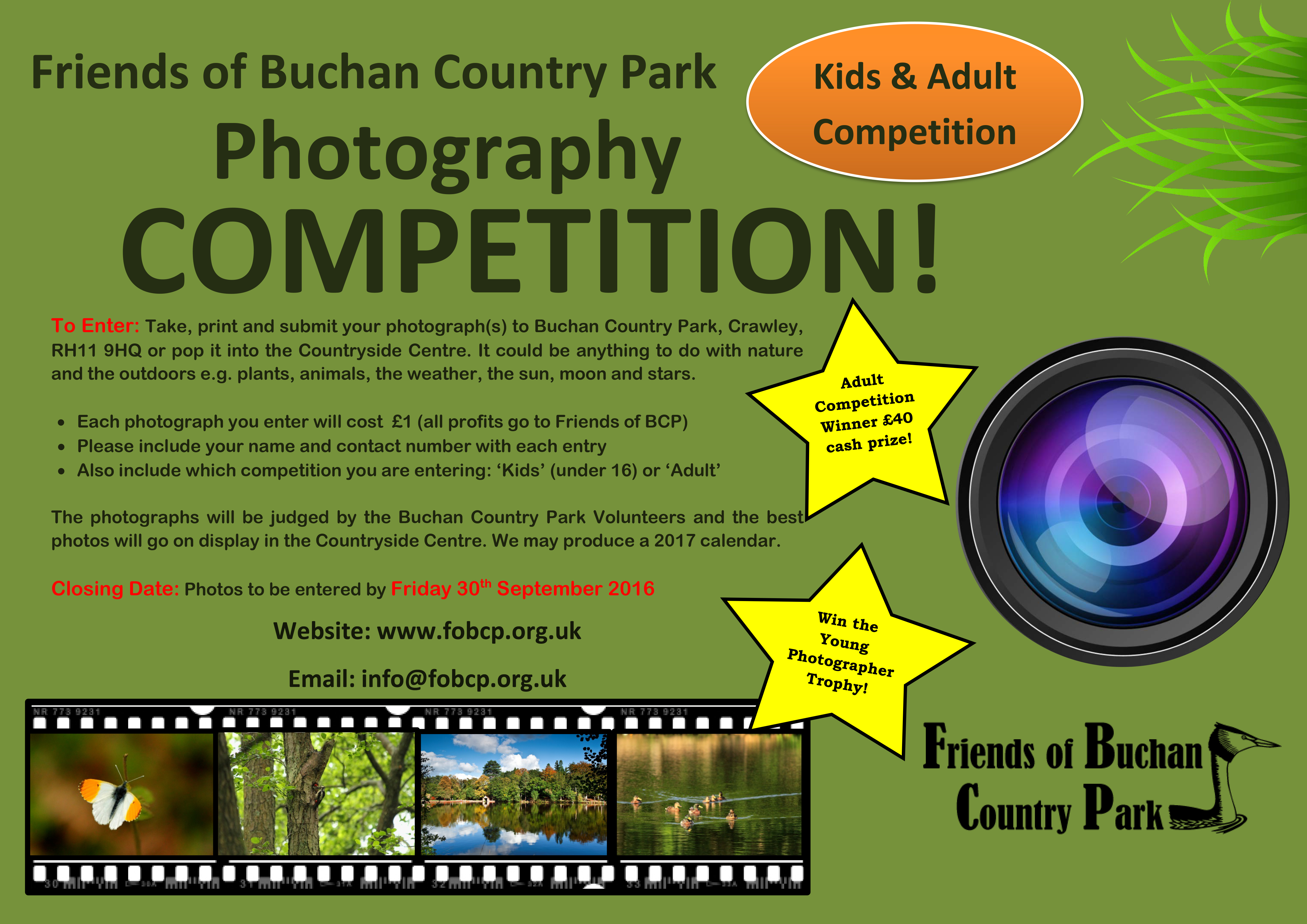 Friends Of Buchan Country Park Photography Competition 2016 poster | fobcp.org.uk
